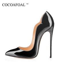 027fec1e3 COCOAFOAL Stiletto Mulher Roxo Sapatos Plus Size 34-43 Sexy festa de  Casamento Sapatos de
