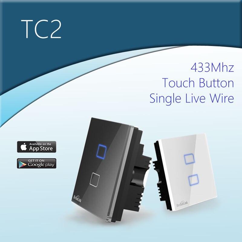 BroadLink 433 MHz Smart Wand Lichtschalter mit Einzelner Live Leiter ...