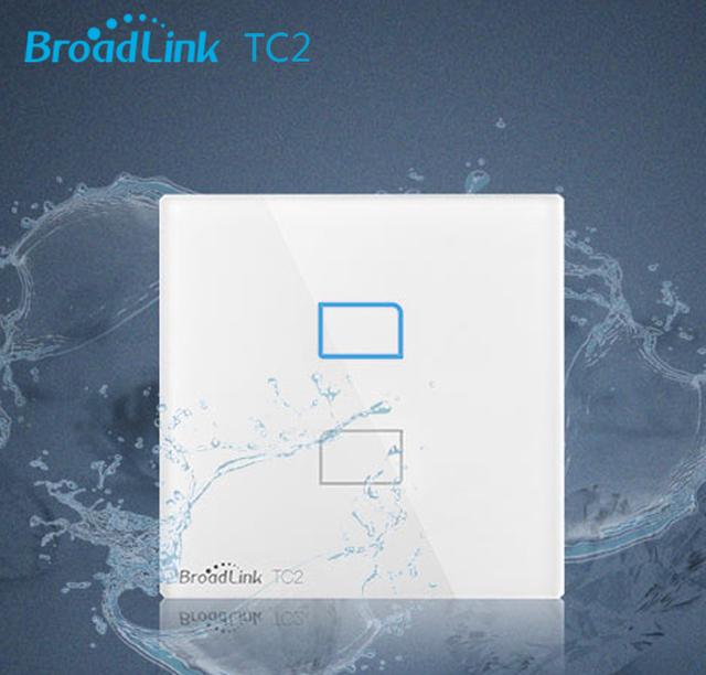 Broadlink tc2-2gang rf 433 mhz de control smart home pared interruptor de luz inalámbrica by de control único cable de alta tensión de conexión