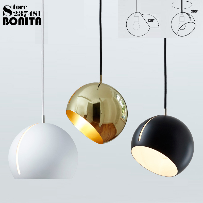 Germany NytaTilt Globe Lamp Nordic Postmodern hanging lights bedroom Design droplight iron Ball pendant lighting for restaurants цена
