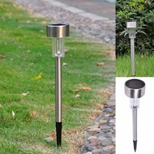 Garden Outdoor Stainless Steel LED Solar Power Landscape Path Light Yard Lamp outside lights outdoor lanterns