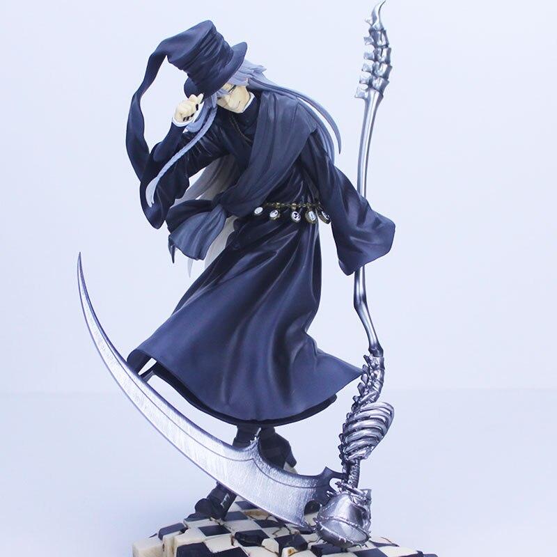 Donose Anime Black Butler: Book of Circus: Undertaker 1/8 Kuroshitsuji PVC Action Figure Collection Model Kids Toy Doll