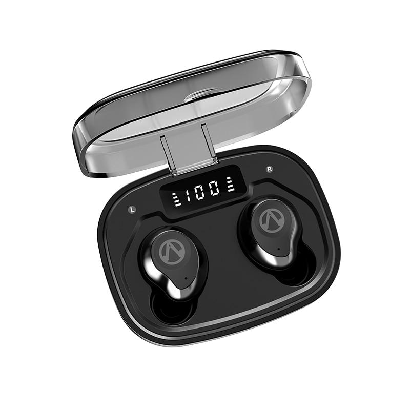 OUKK TWS IPX7 Waterproof Wireless Headphone Bluetooth 5.0 Stereo Music Earphone Earpiece Sport Earbuds 1600mAh Charging Case