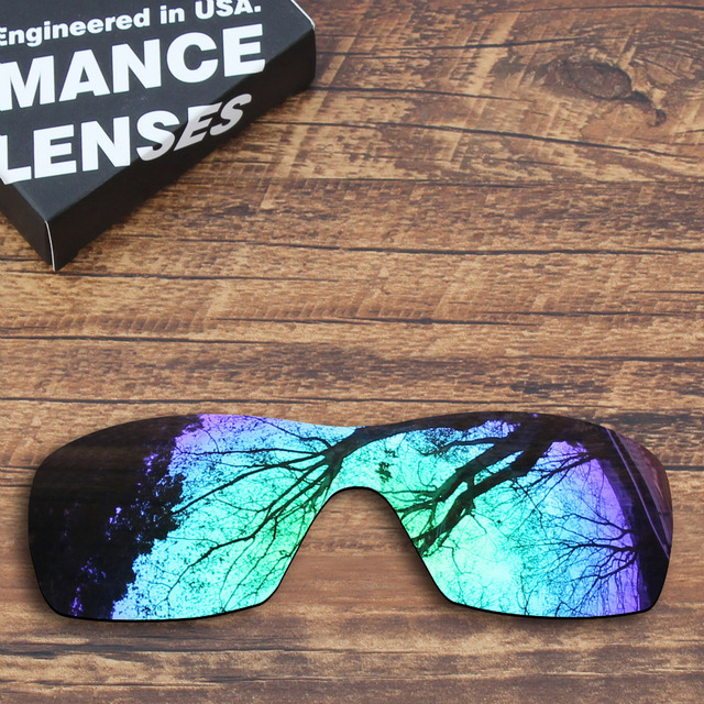 60268edec4a ToughAsNails Polarized Replacement Lenses for Oakley Dart Sunglasses Green  Mirrored (Lens Only)