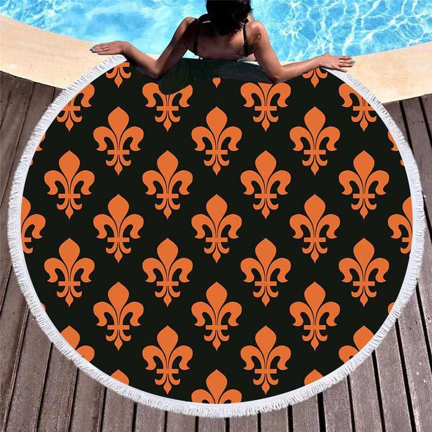 ماندالا الصيف جولة شاطئ المناشف هندسية حمام منشفة استحمام دائرة مع الرباط حقيبة التخزين اليوغا حصيرة السجاد Toalla بلايا
