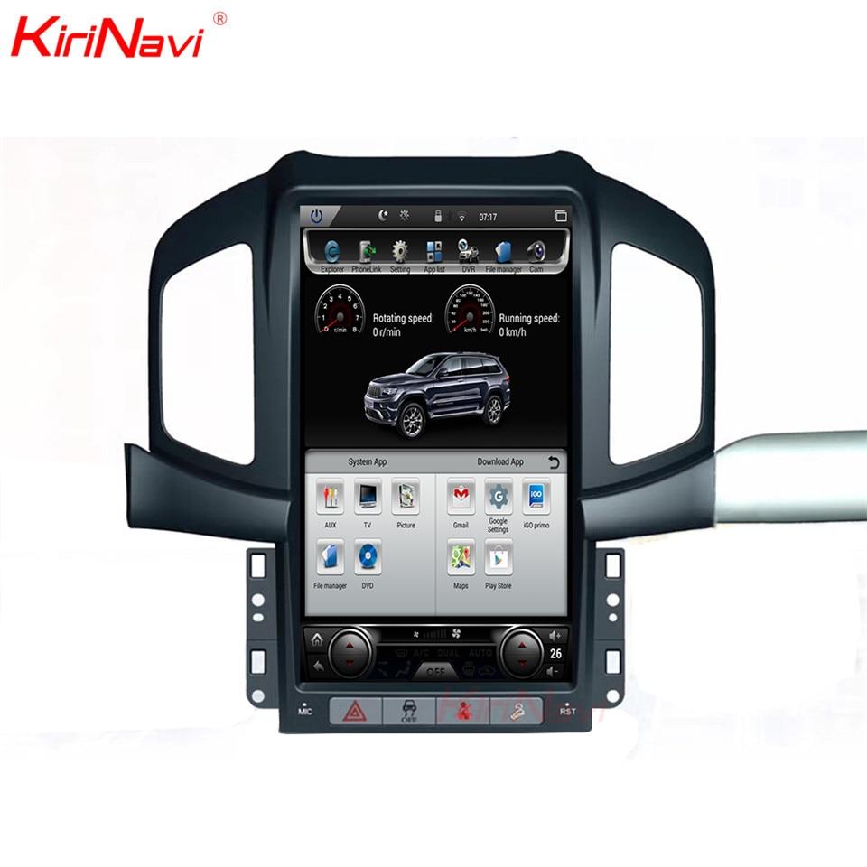 KiriNavi Tesla Estilo Vertical Da Tela Android 6.0 13.6 Polegada reprodutor multimídia Carro de Navegação GPS Do Carro Apto para Chevrolet Captiva 4g