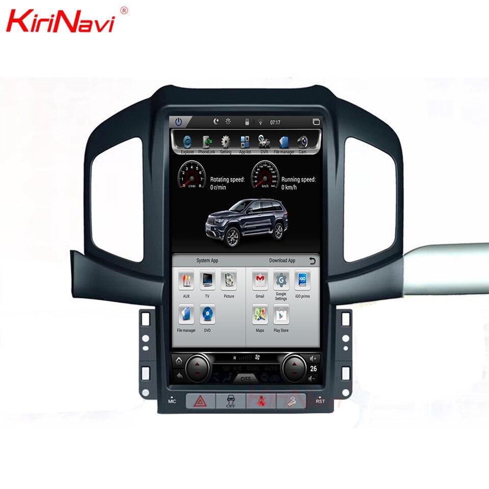 KiriNavi Verticale Dello Schermo Tesla Stile Android 6.0 Da 13.6 Pollici Auto Lettore multimediale di Navigazione GPS Per Auto Misura per Chevrolet Captiva 4g