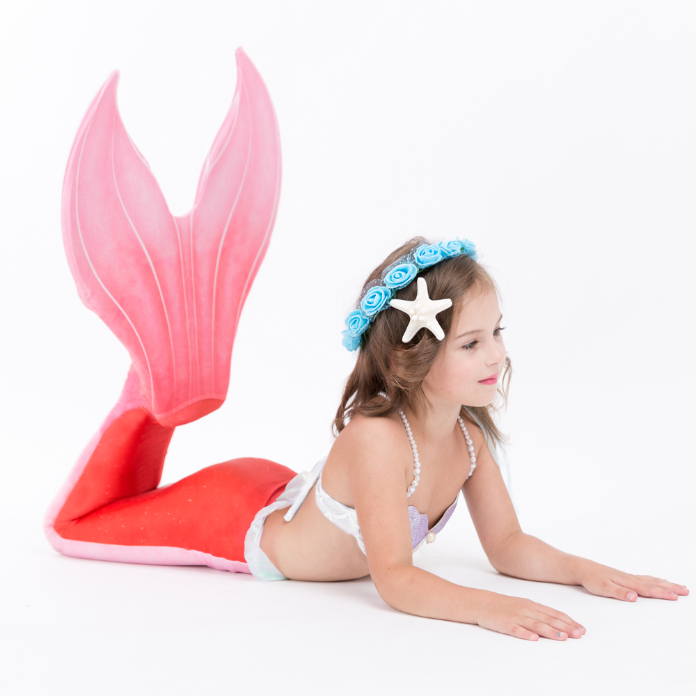 2017 NEW ARRIVAL! Kids Mermaid Tails Cospaly Costumes With Monofin Children Swimmable Mermaid Bikini Set For Girl Christmas gift kids mermaid tail with monofin swimmable filpper costume for girls lady mermaid tails cosplay the little mermaid child clothes