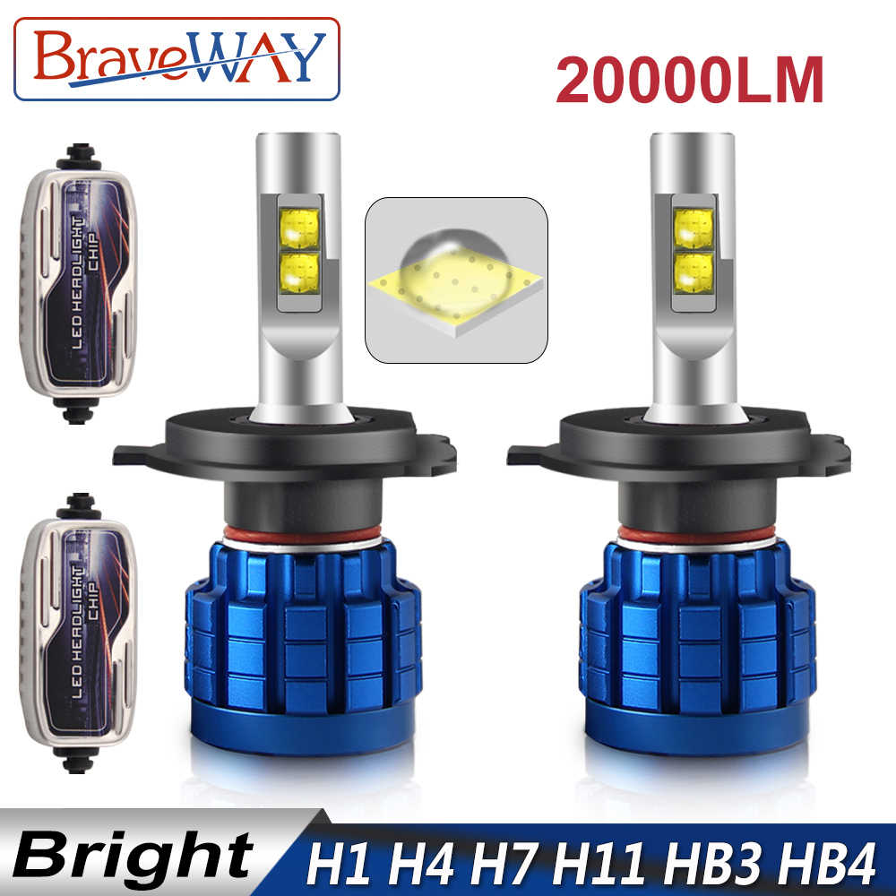 BraveWay 20000LM LED Lamp for Auto H1 H4 H8 H9 H11 HB3 HB4 9005 9006 H7 LED H7 Canbus H11 LED Bulb for Car Light Bulb Automoveis