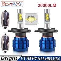BraveWay 20000LM LED Lamp for Auto H1 H4 H8 H9 H11 HB3 HB4 9005 9006 H7 LED H7 Canbus H11 LED Bulb for Car Light Bulb Automoveis