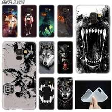 Mooie Wolf Ontwerp case Silicone cover Telefoon Voor Samsung A50 A70 A80 A30 A40 A90 A6 A8 A9 A7 A5 a3 Plus 2018 2017 2016 Ster(China)
