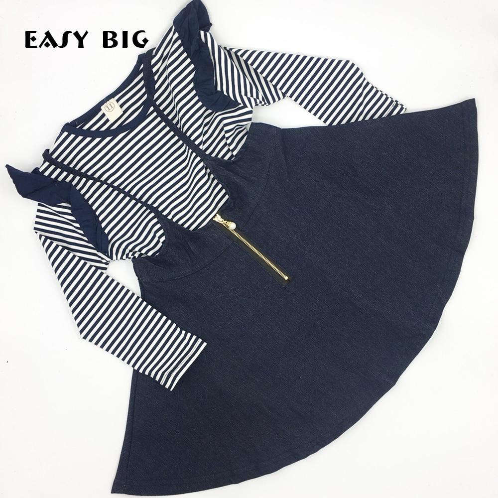 EASY BIG 4-8 let Jarní podzim Neformální Dlouhé rukávy Dívky - Dětské oblečení