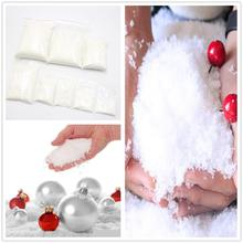 100-500g Artificial Snowflakes Fake Magic Instant Snow Festival Party Decor For Christmas Wedding Child Play