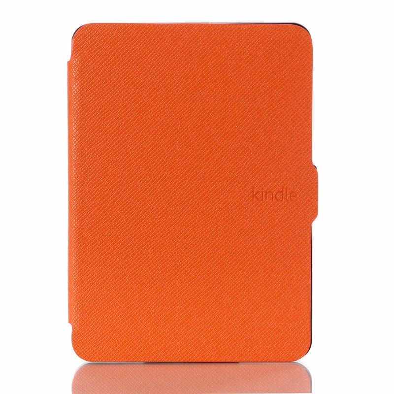 orange pu leather ebook case for amazon kindle voyage ereader case