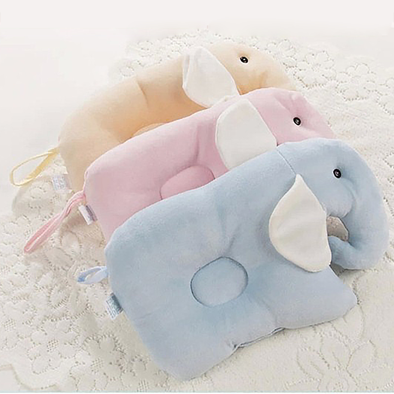 Newborn Baby Pillows Elephant Design Super Soft Memory Pillow Washable and Detachable Pillow Baby Pillows 100% Cotton