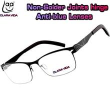 Нет винт Ультра легкая конструкция из нержавеющей стали Анти Blu ray ультрафиолетовые доказательство мужчины женщины очки для чтения + 1 1.5 + 2 + 2.5 + 3