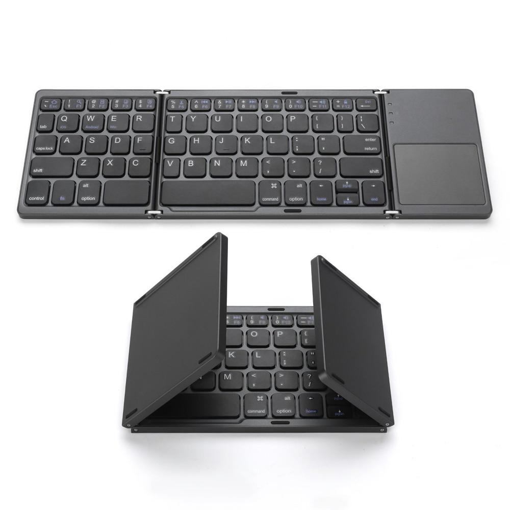 Clavier universel sans fil de pavé tactile de Bluetooth de taille légère portative pliable en aluminium pour lappareil Android de Windows dios