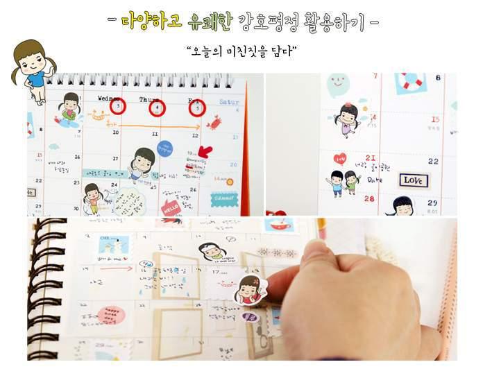 DIY Симпатичные наклейки для дневника ноутбук телефон Kawaii украшения стикеры канцелярские