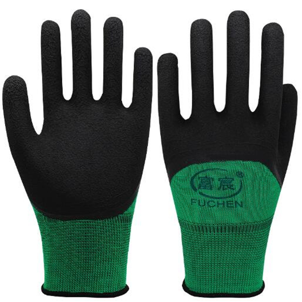 Industrial Gloves Breathable Wear Non-slip Wrinkles Protective Gloves Nylon Knit Foam Dipped Breathable Labor Insurance Supplies racmmer cycling gloves guantes ciclismo non slip breathable mens