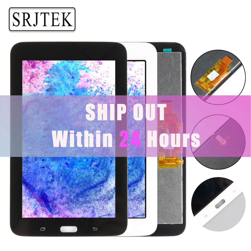 Srjtek 7 For Samsung Galaxy Tab 3 SM-T110 SM-T111 SM-T113 SM-T116 LCD Display Touch Screen T110 T111 T113 T116 Matrix Assembly