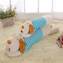 Купить с кэшбэком Cushions Home Decor Funny Pillow Sofa 70 90 120cm Plush Toy Big Puppy Dog Stripe Giant Stuffed Soft Stitch Stuff Animal Pillow
