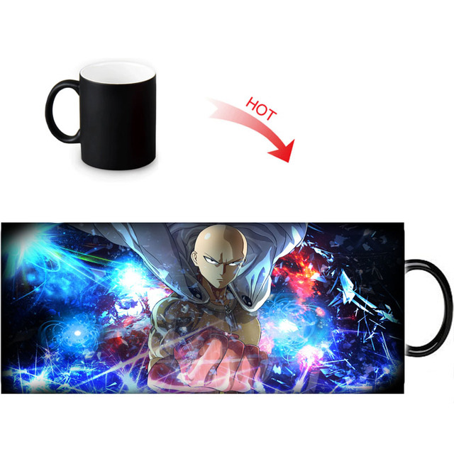 ONE PUNCH-MAN Print Color Change/Changing Ceramic Morph Mug Heat Sensitive Porcelain Morphing Mugs Coffee Tea Milk Cups