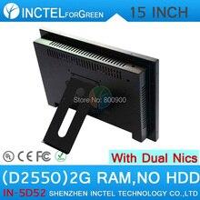All in one desktop pc com 5 fio gtouch 15 polegada levou toque 2g ram só duplo 1000 mbps nics(China (Mainland))
