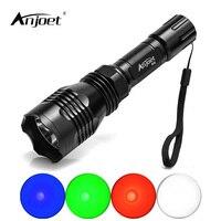 ANJOET Aluminum Alloy Tactical LED Light Flashlight HS 802 Head Torch Single File 1 Mode XPE