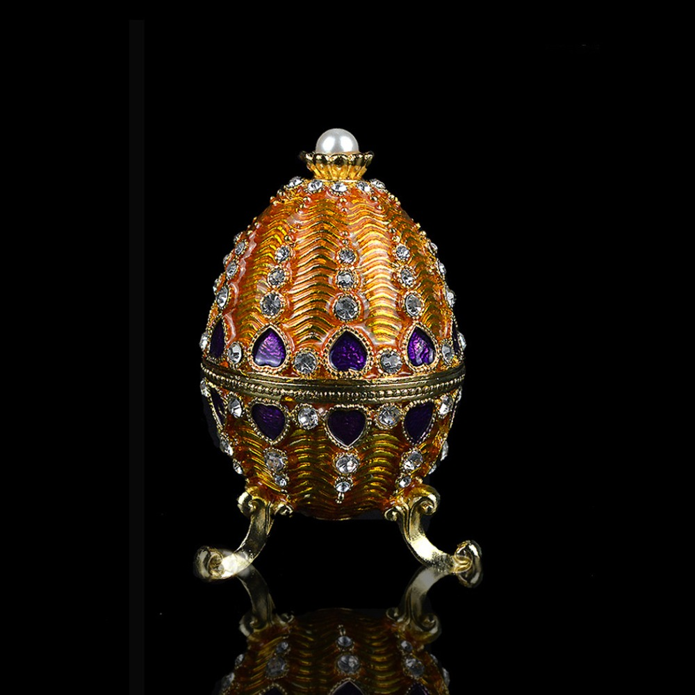 QIFU Metal Design  Faberge Style Egg For Gift