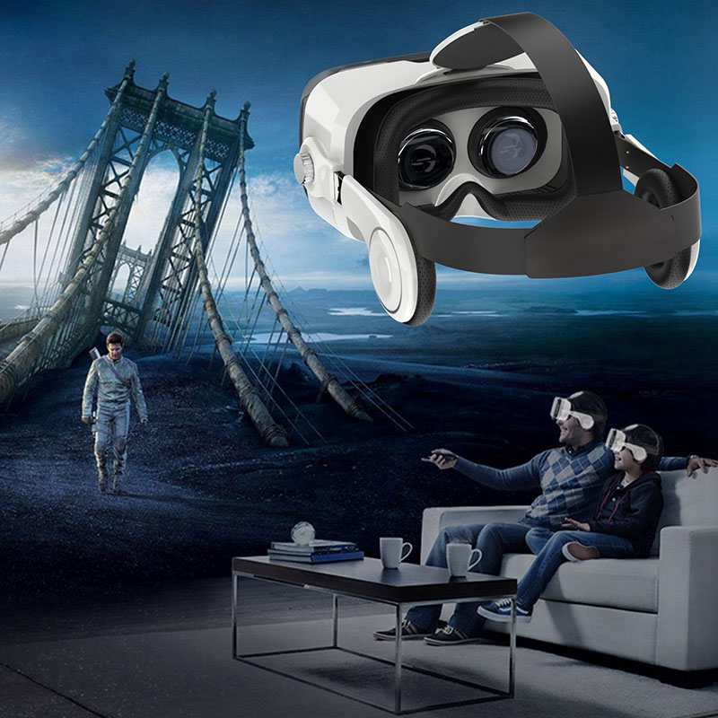 Large FOV <font><b>VR</b></font> Headset with 3D Headphones Virtual Reality <font><b>Glasses</b></font> <font><b>for</b></font> Iphone X Sony Lenove <font><b>Huawei</b></font> 3D Video Movie Game Spectacles image
