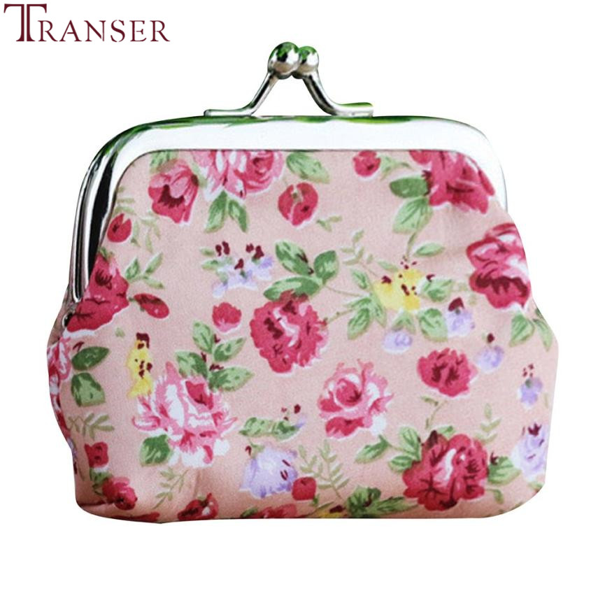 Transer Fashion Women Lady Retro Vintage Flower printing Small Wallet Hasp Purse Clutch Bag drop shipping wu3