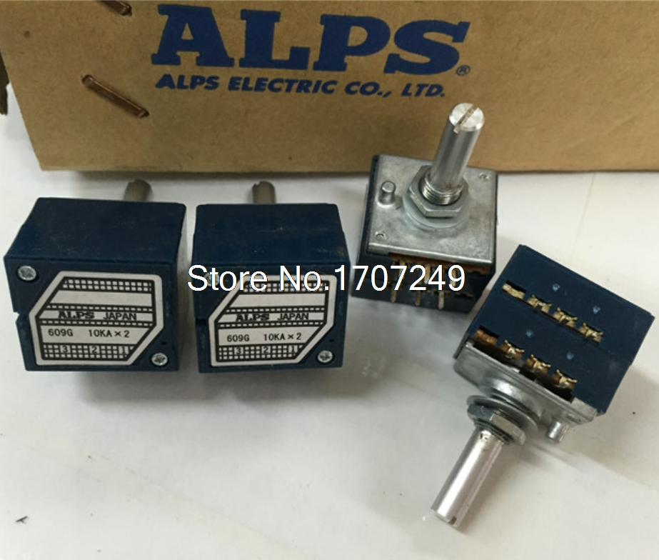 Free Shipping 1Pcs 10K 20K 50K 100K 250K 500K Japan ALPS RK27 Double stereo potentiometer 10~500KAX2 RK27 Rotary switch 1pc 10k 20k 50k 100k 250k 500k japan alps rk27 double stereo potentiometer 10 500kax2 knurled shaft rk27 rotary switch 6pin