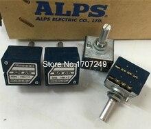 Free Shipping 1Pcs 10K 20K 50K 100K 250K 500K Japan ALPS RK27 Double stereo potentiometer 10~500KAX2 RK27 Rotary switch