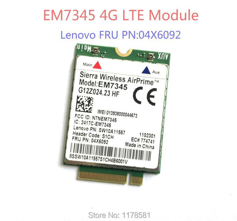 Thinkpad GOBI5000 EM7345 LTE FRU 04X6092 T440 X240 WWAN HSPA+ 42Mbps 4G Module NGFF new unlock sierra wireless gobi5000 em7355 lte evdo hspa 42mbps ngff card 4g module for hp lt4111 wwan 704030 001 wcdma card
