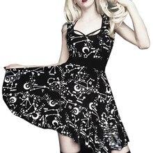 Уличная одежда Jurken Zomer, Vestido Festa, женское уличное платье в готическом стиле, панк, черное ретро платье, винтажное платье без рукавов Z4