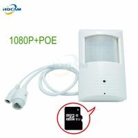 Camhi 1080 p sdカードスロットp2p弾丸poe kameraホームセキュリティビデオ監視ミニ屋内ドーム監視カメラpoe ipc