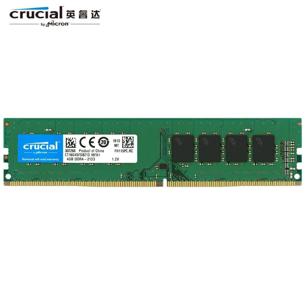 Micron 16GB 32GB RAM DDR4 PC4-2666V 2666MHz PC4-21300 288Pin DIMM Desktop Memory