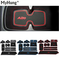 Fit For Suzuki Alto 2009 To 2014 High Quality Gate Slot Pad Rubber Car-cup Mat Non-slip Mat Car Accessories 12pcs Per Set