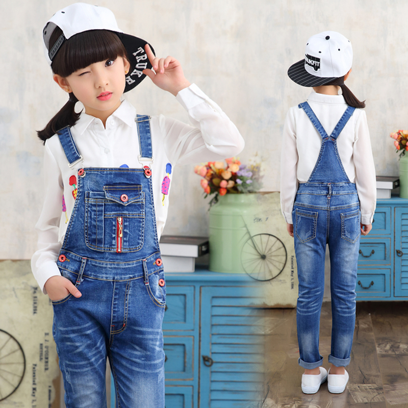New Arrival baby pants Boys girls trouser jeans denim jumpsuit overoles kids Spring And Autumn Children Jeans Jumpsuits Clothes kids boys jeans trousers 100% cotton 2017 spring autumn washed high elastic children s fashion denim pants street style trouser page 3