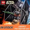 NUEVO 1685 unids Lepin 05036 Serie Star Tie Fighter Ladrillos de Construcción Bloques Educativos Juguetes Compatible con 75095