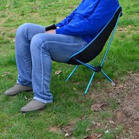 Portable Chair Folding Seat Stool Fishing Camping Hiking Gardening Pouch