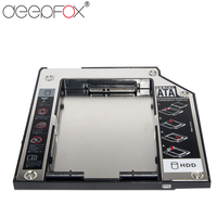 "DeepFox Plastic & Aluminum SATA to SATA 2nd HDD Caddy 9.5mm 2.5"" SSD Case HDD Enclosure For Lenovo T400 CD DVD ROM Optibay HDD Enclosure Computer & Office -"