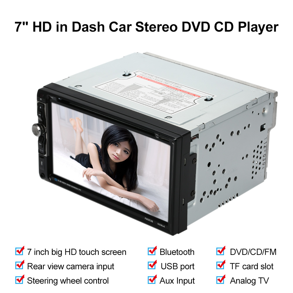 Универсальный 7-дюймовый Автомобильный Электронный Авторадио 2 DIN Автомобильный Мультимедиа DVD-плеер с USB FM радио AUX вход для Volkswagen