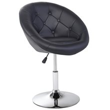 Round Tufted Back Accent Bar Chair Modern Comfortable Cushions Adjustable Height Ergonomic Metal Bar High Chair Stool HW52961(China)