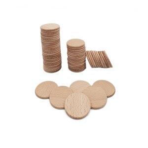 Image 3 - Paquete de recorte de madera Natural para decoración del hogar, Círculo de madera no acabado de 38mm y 100 pulgadas, redondo rústico, suministros para manualidades DIY, 1,5 Uds.