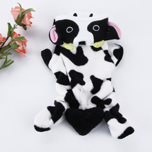 Cute fashionable little cow-inspired hooded sweatshirt