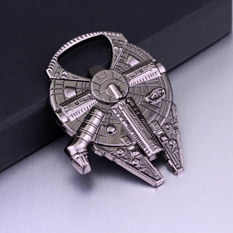 Image 4 - Bottle Opener Keychain Metal Stainless Steel Key rings Collection Figurines For Star War Fans Gifts-in Action & Toy Figures from Toys & Hobbies