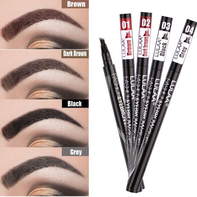 1Pcs Women Makeup Sketch Liquid Eyebrow Pencil  Waterproof Brown Eye Brow Tattoo Dye Tint Pen Liner Long Lasting Eyebrow 5