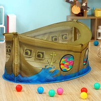 Baby Pirate Ship Playhouse Toy for Kids Ball Pits Play Tent Infant Balls Pool Ocean Balls Playpen for Children Playgournd