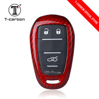 Car Styling Car Cover Shell for Alfa Romeo mito 159 147 Giulia Stelvio Carbon Fiber Holster Car Key Case 3 Button Accessories